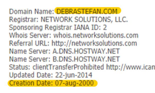 DebraStefan.com since 08.07.2000