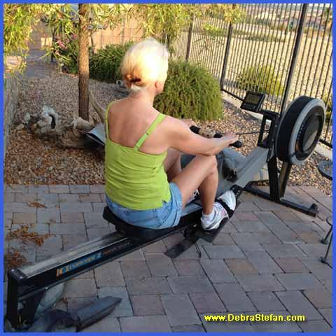 Concept 2 Rower senior fitness