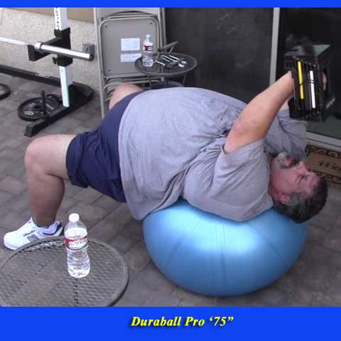 500lb man lifting weights on the Duraball Pro 75""