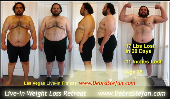 Saudi Man at Weight Loss Camp Las Vegas Live-in Fitness
