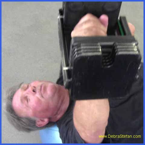 PowerBlock Dumbbells- Single Arm Chest Press