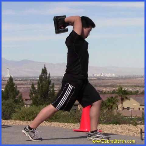 PowerBlock Dumbbells- Wood Chop Exercise