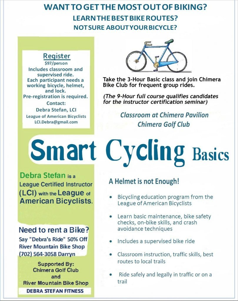 Smart Cycling 3-Hr Intro Class by Debra Stefan, LCI