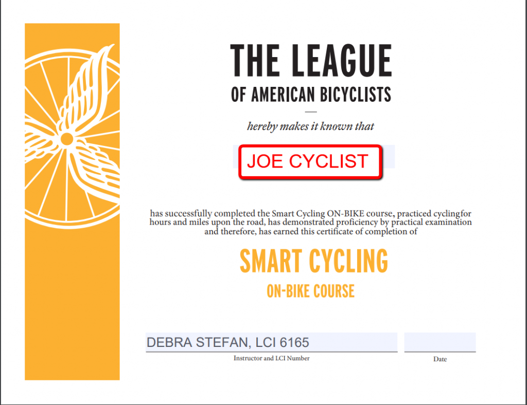 Bike Ride Club Membership with Smart Cycling Instructor, Debra Stefan, LCI group biking club