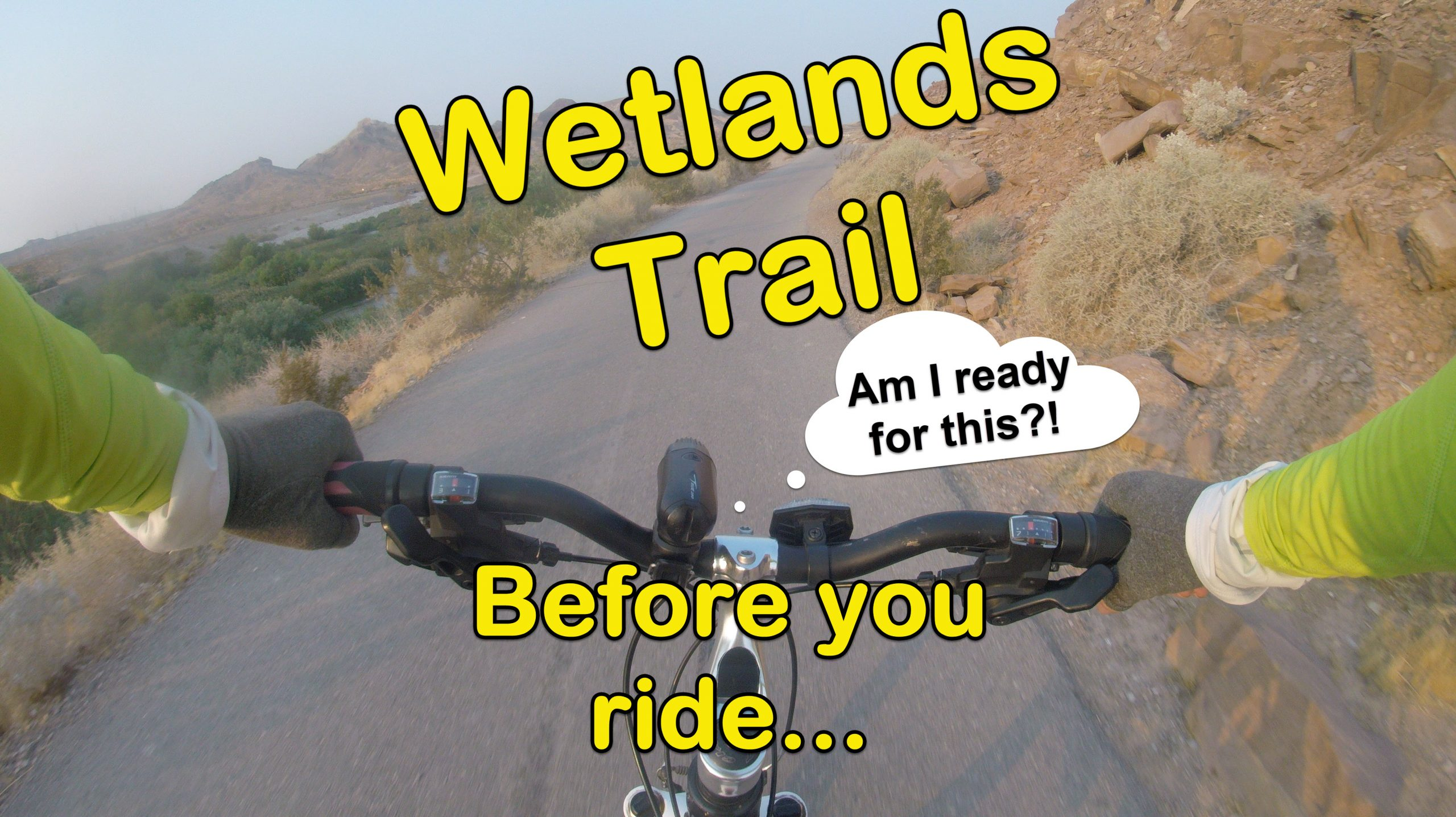 Biking Wetlands Trail in Henderson, NV