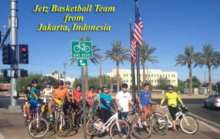 Indonesian Basketball Team at Debra Stefan Fitness Biking Retreat in Henderson, NV