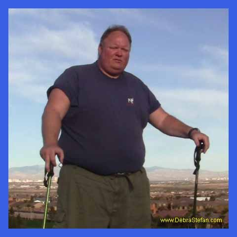Trekking Poles- Obese man