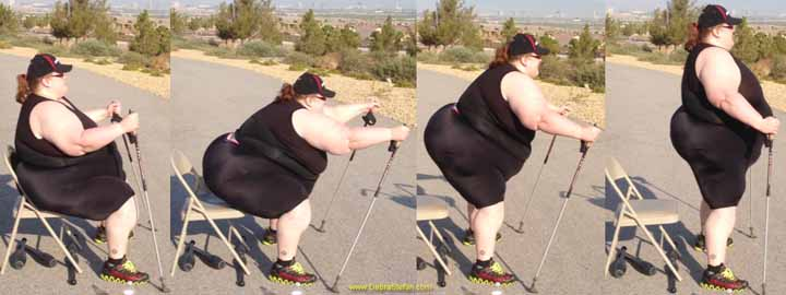 Trekking Poles-500Lb Woman Weight Loss Fitness