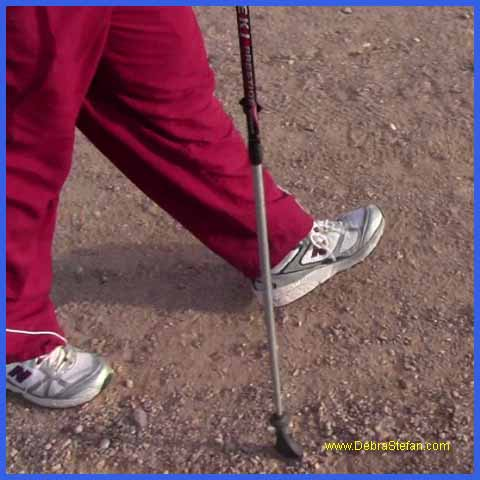Trekking Poles- Man walking with trekking poles