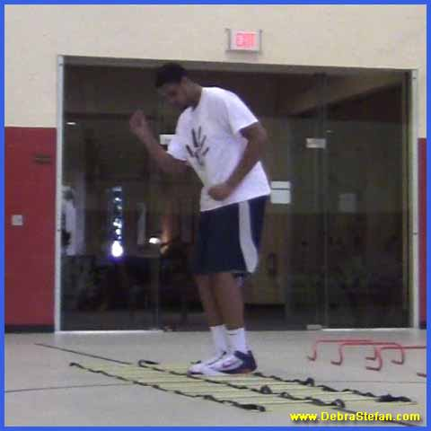Agility ladder double for foot speed variations, balance and conditioning.