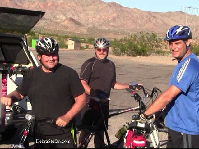 Biking Retreat Fitness Camp --Men Biking at Debra Stefan Fitness Camp