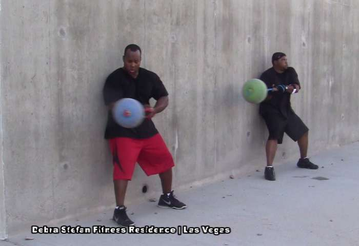 Extreme Converta-Ball Rotational Drills by Athletic Men.