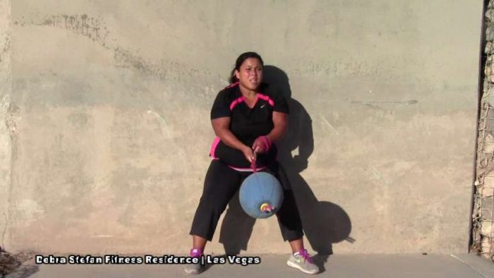 Extreme Converta-Ball Overhead Chops by Teen Athlete.
