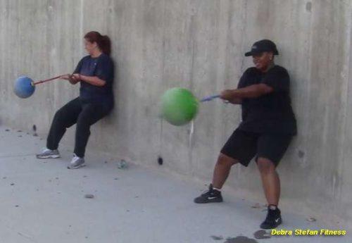 Women training with Extreme Converta-Balls