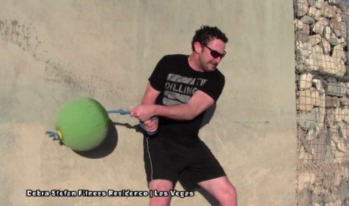 Man performing Extreme Converta-Ball Action