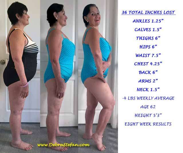 Live in Weight Loss Retreat Senior Woman 8 Week Success Story