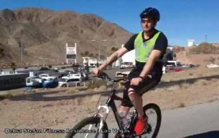 Triathlete riding at Debra Stefan Fitness Biking Retreat