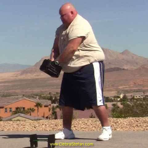 Morbidly Obese Man at Mens Weight Loss Camp in Las Vegas