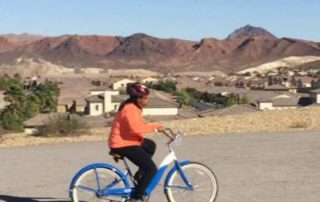 Weight loss client learns to ride at the Fitness Biking Retreat